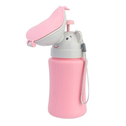 Milisten Universal Mini Urinal Mobiltoilette Personal Toilet Notfall Reisetoilette Notfall WC für Kinder Kleinkind Baby Camping Wohnwagen Autoreisen Rosa (Mädchen)
