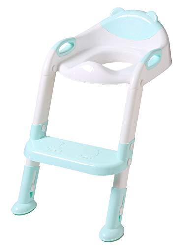 DoubleBlack ToilettensitzFaltbarfürKinderToilettentrainerToilettenleiterWCmitTreppe Blau