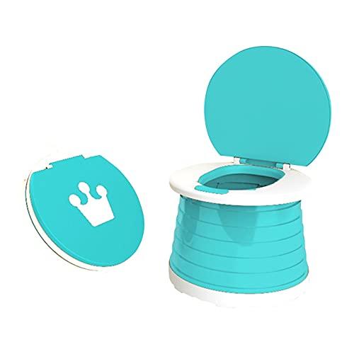 Corlidea Toilettensitz kinder, Indoor Outdoor Travel Töpfchen mit Reisetasche klappbarer Toilettenstuhl für Babytraining (Blau)