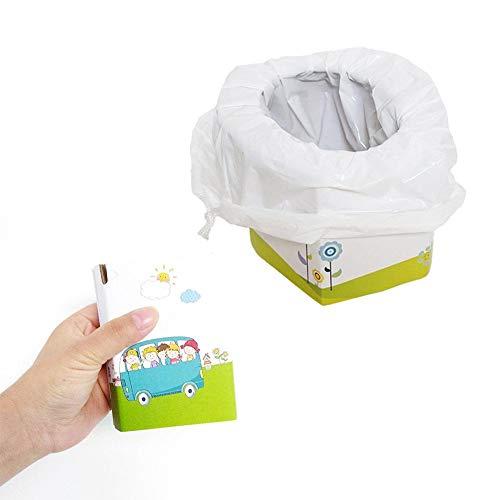 PER Baby Töpfchen Reisen Toilette Kit Kinder Töpfchen Notfall Faltbare Papier Toilette Mit 5 stücke Tasche Für Reise Auto Camping