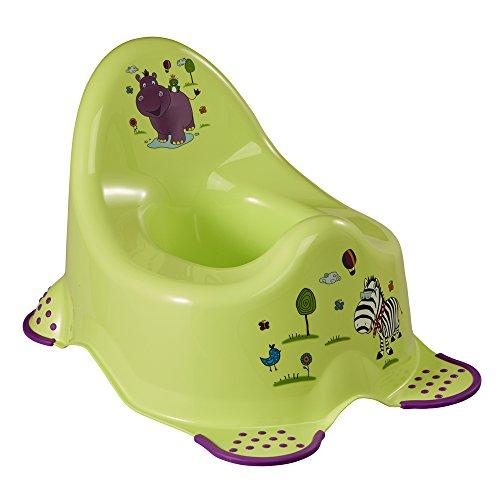 keeeper Hippo Babytopf, Ab ca. 18 Monate bis ca. 3 Jahre, Anti-Rutsch-Funktion, Adam, Grün