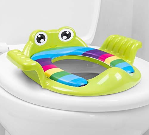 AP® - universeller Kinder-Toilettensitz, WC Aufsatz passend für alle Toiletten - Töpfchen-Trainer für Jungen und Mädchen von 1-7 Jahre - Toilettentrainer/Trainingssitz (Grün)