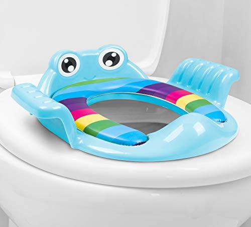 AP® - universeller Kinder-Toilettensitz, WC Aufsatz passend für alle Toiletten - Töpfchen-Trainer für Jungen und Mädchen von 1-7 Jahre - Toilettentrainer/Trainingssitz (Blau)