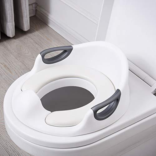 ADOVEL Kinder WC Sitz, Töpfchen Training Sitze für Jungen und Mädchen, passt auf runde und ovalen Toiletten, Baby Potty Training / Toilettensitz / Trainingssitz / Toilettentrainer (weiß)