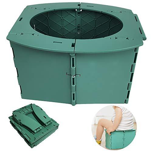 Portable Toilette, Faltbar Toiletteneimer Reisetoilette, Outdoor Toilettenstuhl Klappbar Camping, Klappstuhl Toilette Für Kinder Von 1-5 Jahren