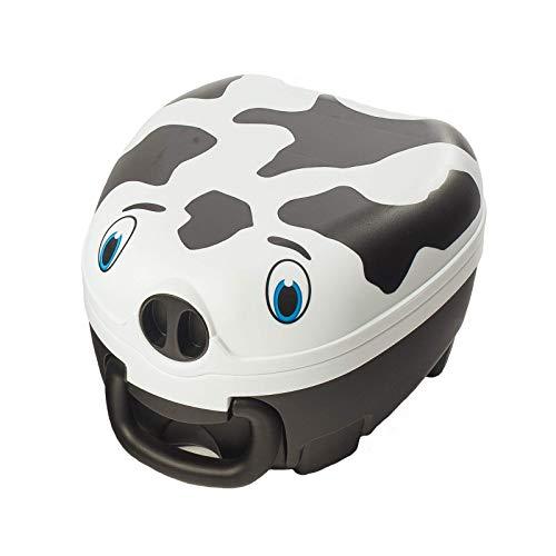 My Carry Potty - Kuh Travel Töpfchen, preisgekrönter tragbarer Toilettensitz für Kleinkinder, den Kinder überall hin mitnehmen können