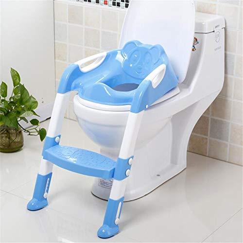 RAILONCH Toilettentrainer Training Kinder 3 in 1 Toilettensitz Töpfchen Toiletten Trainer mit Stufen WC Sitz Zusammenklappbar (Blau)