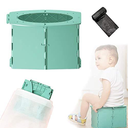 auvstar Baby Kindertoilette Kindertöpfchen Toiletten-Sitz für Kinder für unterwegs töpfchen für kinder für unterwegs Tragbar Reise WC Kinder für Kinder 12-36 Monate
