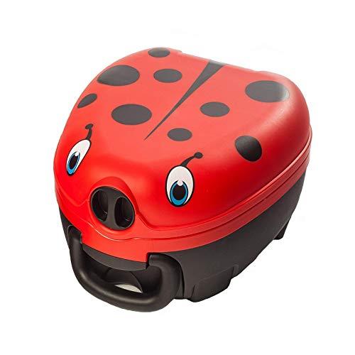 My Carry Potty - Marienkäfer Travel Töpfchen, preisgekrönter tragbarer Toilettensitz für Kleinkinder, den Kinder überall hin mitnehmen können