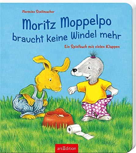 Moritz Moppelpo braucht keine Windel mehr: Ein Spielbuch mit vielen Klappen | Das beliebteste Pappbilderbuch zum Thema Sauberwerden für Kinder ab 24 Monaten
