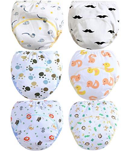 Ceguimos 6er Pack Baby Jungen Lernwindel Trainerhosen Unterwäsche zum Sauberwerden, Gr. 98 (Herstellergröße 100)
