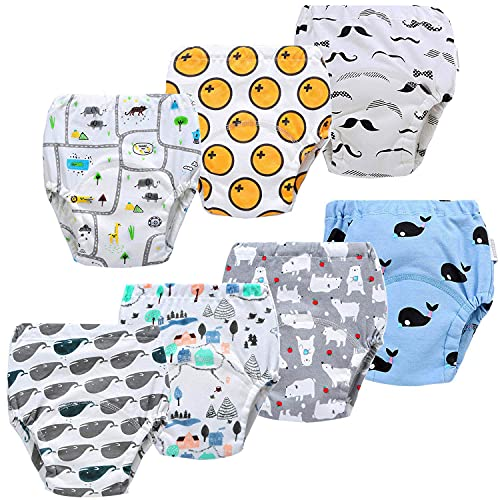 JackLoveBriefs Baby Kleinkind Töpfchen Unterwäsche Töpfchen Trainingshose (5 Jahre, 7 Stück, Farbe: B-1 , Gr.110)