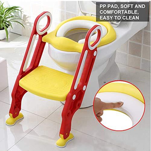 Toilettentrainer Höhenverstellbar WC Sitz Lerntöpfchen  mit Treppe