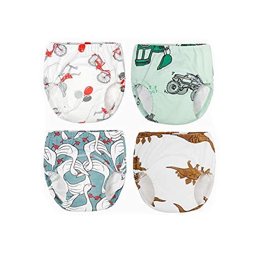 Morbuy 3/4/6er Pack Baby Lernwindel Trainerhosen Unterwäsche Windeln Windelhose zum Toilettentraining Töpfchentraining Kleinkind Töpfchen Klingelhose Waschbare Lernwinde (120,4pcs weiß Blau)