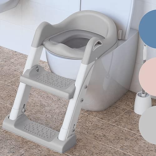 Premium Töpfchentrainer bzw. Toilettenleiter von BEARTOP | rutschfest | für Toiletttenhöhe von 38-42cm | neues stabileres Design aus 2021 | bis zu 75kg | Zufriedenheitsgarantie (3 Jahre)*
