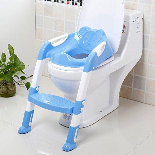 Kinder Toilettensitz Toilettenaufsatz f/ür Toiletten 38-42cm Rosa BAMNY Toilettentrainer mit Treppe