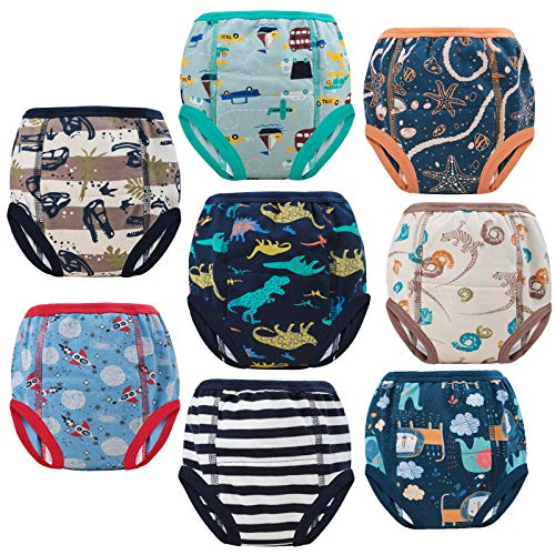 FLYISH DIRECT Töpfchen Trainingshose Baby Lernwindel Trainerhosen Unterwäsche für Baby Kleinkind Kleinkinder, 8 Stück, 120/5T, 5 Jahre
